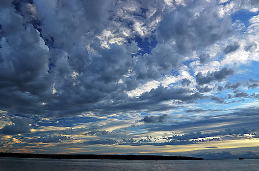 Reimar Gaertner - Clouds over English Bay from Sunset Beach Vancouver