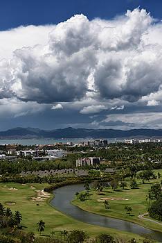 Reimar Gaertner - Clouds over Nicklaus Design Golf course at Nuevo Vallarta Mexico