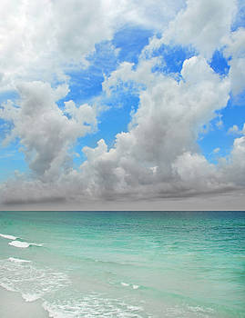 Clouds over ocean by Cheryl Casey