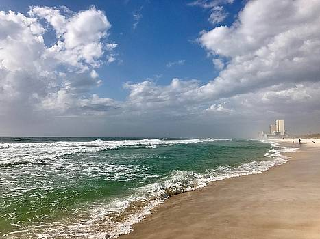 Clouds over the Beach by Leslie Brashear