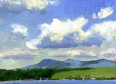 Clouds Over the Lake by Mary Byrom