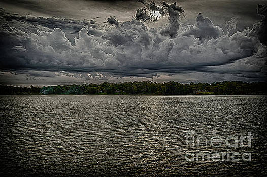 Clouds over the lake by Thomas Gibson