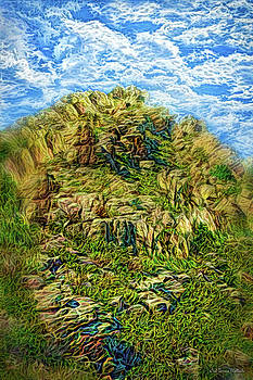 Clouds Sweep Ancient Cliffs by Joel Bruce Wallach