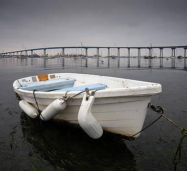 Cloudy Coronado Island Boat by William Dunigan