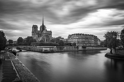 Cloudy Day on the Seine by James Udall