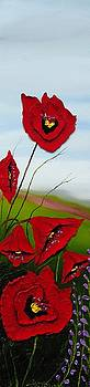 Cloudy Day Poppies 2 by Portland Art Creations