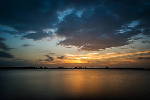 Cloudy Lake Sunset by Todd Aaron