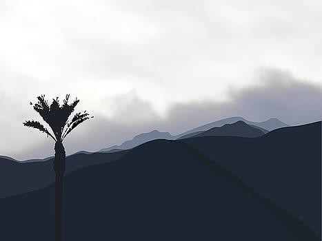 Stan  Magnan - Cloudy San Jacinto Mountain with Palm
