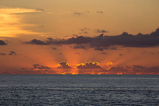 Cloudy Sunrise  by David Valencia