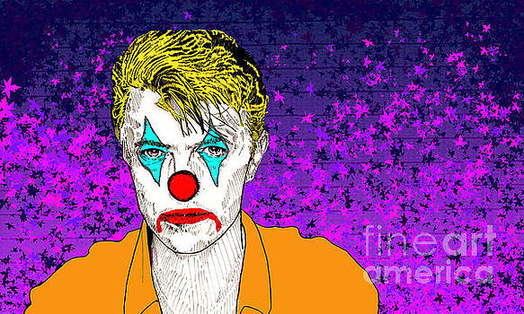 Clown David Bowie by Jason Tricktop Matthews
