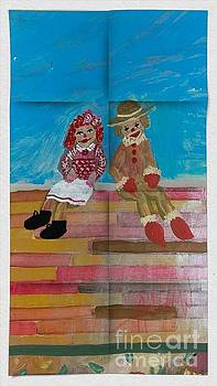 The Clowns by My door by Amber Waltmann