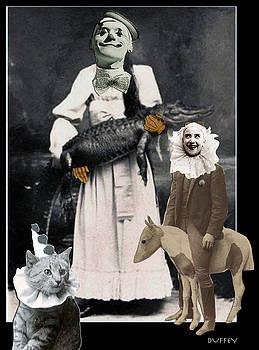 DOUG DUFFEY - CLOWNS ALLIGATOR CAT PONY 3A