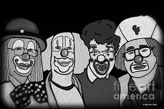 Clowns BW by Megan Dirsa-DuBois