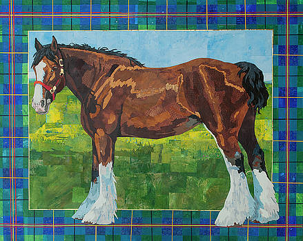 Clydesdale Horse by Alyson Champ
