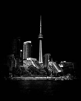 CN Tower From Bathurst Quay Toronto Canada by Brian Carson