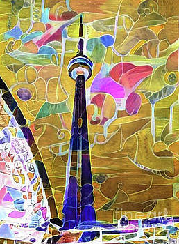 CN Tower in Craqueline by Nina Silver