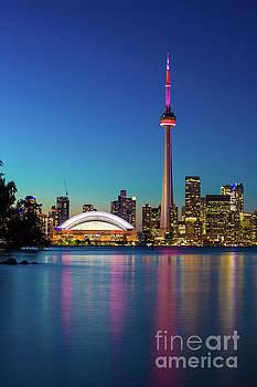 CN Tower Rogers Centre Toronto  by Mariusz Czajkowski