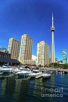 CN Tower  Toronto marina Canada150 by Mariusz Czajkowski