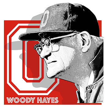 Coach Woody Hayes by Greg Joens