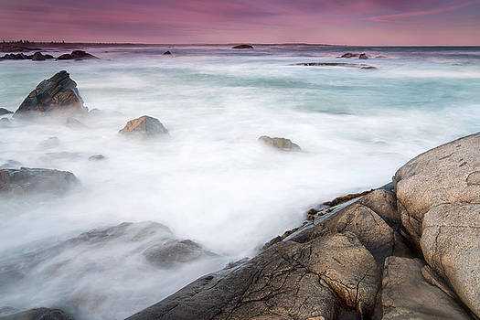 Coast at Dusk Nova Scotia South Shore by Scott Leslie