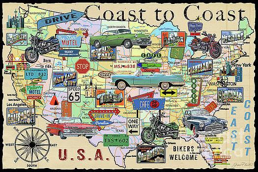 Coast To Coast-I by Jean Plout
