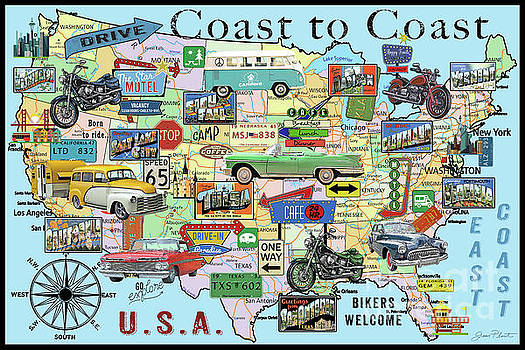 Coast To Coast-N by Jean Plout