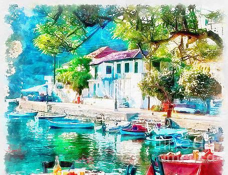 Coastal Cafe Greece by Yanni Theodorou