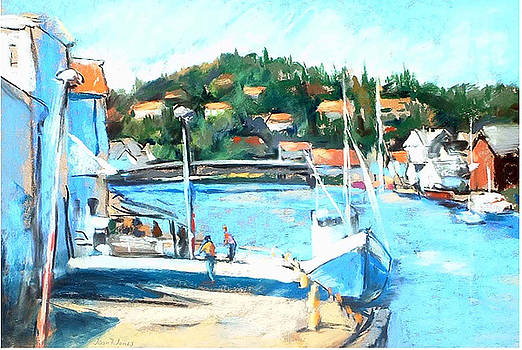 Joan  Jones - Coastal Fishing Village