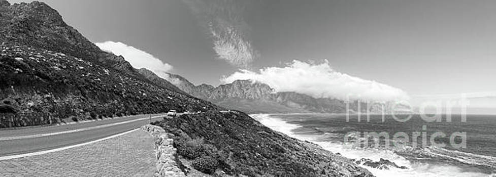 Coastal Road South Africa Black And White by Tim Hester
