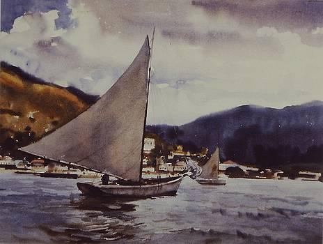 Coastal Sailing by Charles Hawes