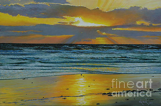 Coastal Sunset by Michael Nowak