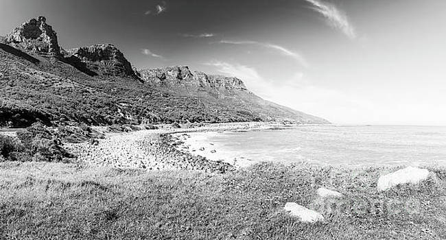 Tim Hester - Coastline In South Africa Black and White