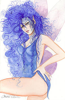 Cobalt fairy by Christine Winters