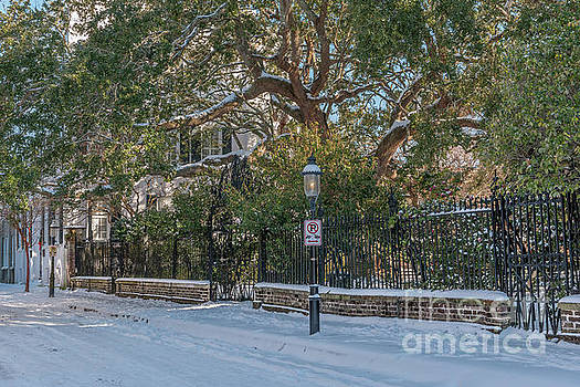 Cobbleston Street Covered in Snow by Dale Powell