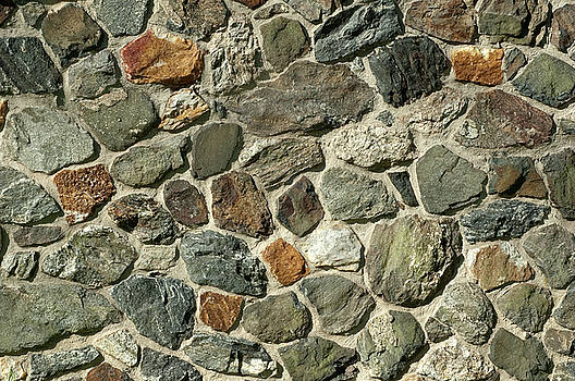 Cobblestone Wall by John Randolph