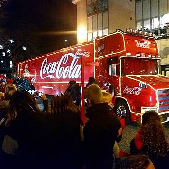 #cocacola #cococolatruck #christmas by Natalie Anne