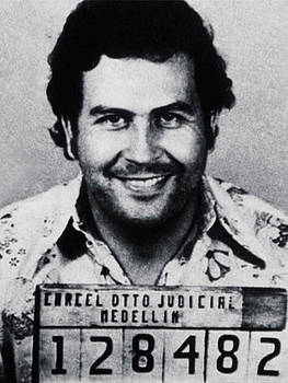 Cocaine Art Pablo Escobar Mug Shot by Tony Rubino