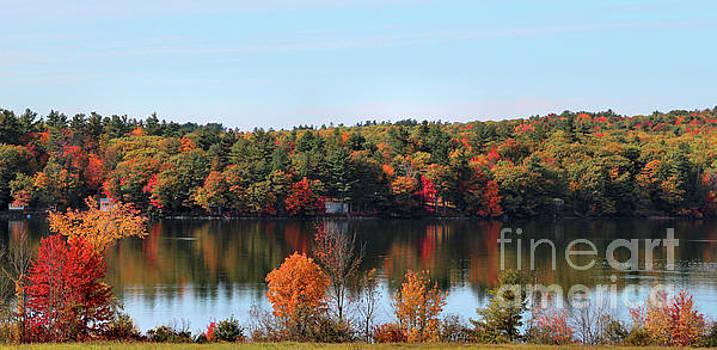 Sandra Huston - Cochnewagon Pond in Autumn