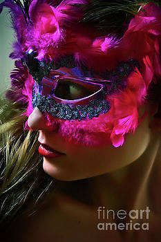 Dimitar Hristov - Cockatoo Venetian Mask II Eye Mask