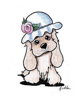 Cocker Spaniel In Hat by Kim Niles