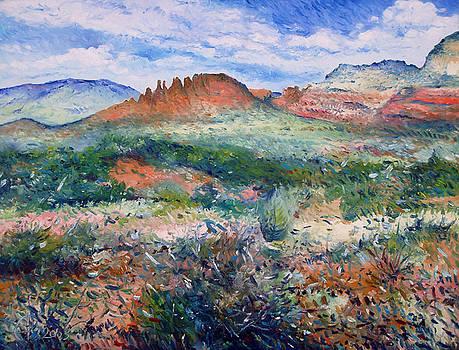 Cockscomb Butte Sedona Arizona USA 2003  by Enver Larney