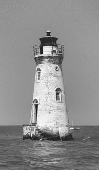 Cockspur Lighthouse BW by Juliana  Blessington