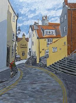Cod and Lobster, Staithes by Fred Urron