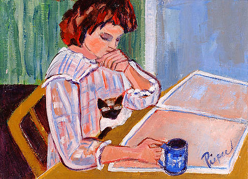 Betty Pieper - Coffee and Cat