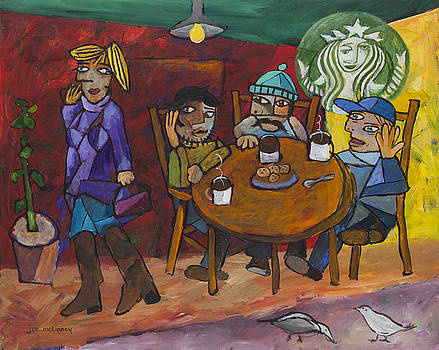 Coffee Break at Starbucks by Joe Mckinney