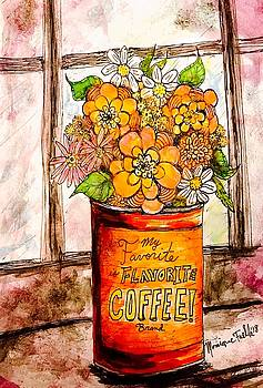 Coffee Can Bouquet  by Monique Faella