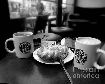 Coffee in Berlin  black and white by Tanya Searcy