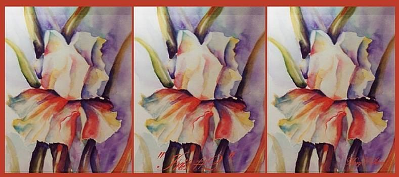 COFFEE MUG Iris 2 by Mary Silvia