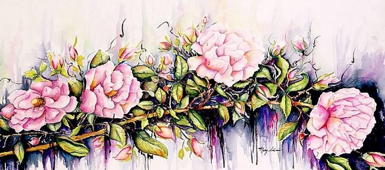 COFFEE MUG Long On Roses by Mary Silvia