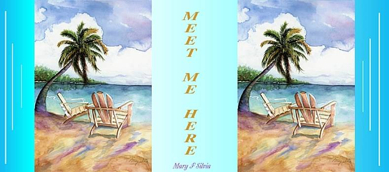 COFFEE MUG Meet Me Here by Mary Silvia
